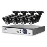 Hiseeu 4PCS 4MP Outdoor CCTV Camera System 8CH AHD DVR Video Security Surveillance System Kit