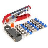 Connecteur à sertir rotatif coaxial de coupe de câble de sertisseur de compression de type F