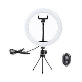 10 polegadas LED Ring Light 3 Modos 10 Brilho Ajustável Bluetooth Selfie Ring Light Fotografia Beauty Light para Youtube Streaming ao vivo