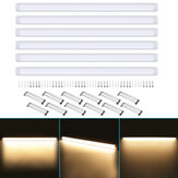 6Pcs 120cm AC85-265V LED Luces de montaje en superficie 2835SMD LED Batten Linear Tube Light para Office Supermarket Home