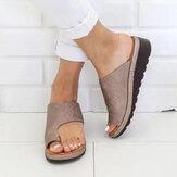 Sandali piatti casual di grandi dimensioni con punta a clip Soft