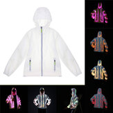 Batteria Powered LED Colorful Costume luminoso Vestiti Cappotto per giacca da ballo per feste