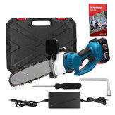 88V 1200W 8 Inch Electric Cordless Chain Saw Woodworking Saw Wood Cutter with Battery