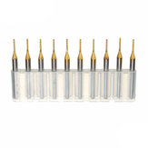 Drillpro DB-P4 10pcs 1.0mm Carbide PCB Bits 1/8 Inch Shank Titanium Coated End Mill Engraving Bits