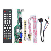 Digital Signal M3663.03B DVB-T2 Universal LCD TV Controller Driver Board TV/PC/VGA/HDMI/USB+7 Key Button+1ch 6bit 40pins LVDS Cable
