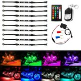10st Draadloze RGB IR / RF Multi-Color LED Licht Strips Afstandsbediening Neon Atmosfeer Lamp