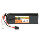 ZOP Power 7.4V 2200mAh 2S 8C Lipo البطارية for RC Transmitter
