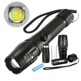 Elfeland  T6 2000lumens 5Modes Zoomable LED Flashlightt With 18650