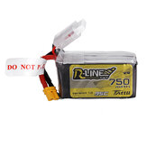 TATTU R-LINE 1.0 14.8V 750mAh 95C 4S Lipo البطارية XT30 Plug for 100mm to 180mm FPV Race Drone Quadcopter