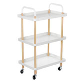Square 3-story Nordic Movable Shelf Wrought Iron Living Room Tea Art Round Trolley Kitchen Bathroom Storage Rack