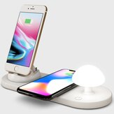 Bakeyy Mushroom QIワイヤレス充電器(ベッドサイドナイトランプ付き)10W Wirless Charging Pad for iPhone 12 Pro Max POCO X3 NFC for Samsung Galaxy Note S20 ultra for Mi 10