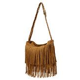 Retro mulheres borla sacos meninas casuais sacos de ombro CROSSBODY sacos bolsas mensageiro