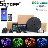 SONOFF L1 kan dimmes IP65 2M 5M Smart WiFi RGB LED Strip Light Kit Arbeid med Amazon Alexa Google Hjem Julepynt Clearance Christmas Lights