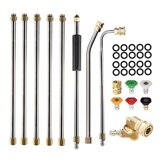 High Pressure Washer Lance Spray Nozzle Water Pump Extension Rod
