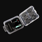 Memory Card Storage Box Case Organizer til 1xSD Card 6xMicro SD Card 1xMemory Stick
