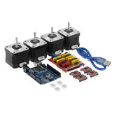 TWO TREES® CNC Shield + placa UNO R3 + 4x A4988 Stepper motor Driver + 4x 4401 Stepper motor Kit para impresora 3D