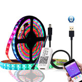 DC5V 1M 2M WS2812B 5050 Bluetooth USB APP Controllo RGB indirizzabile individualmente LED Strip Light Kit