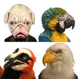 Halloween Eagle Simulatie Animal Bulldog Parrot Headgear Mask