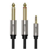 Biaze 3.5mm to Dual 6.5mm Audio Cable 3m 1 to 2 Audio Cable Connector Silver Plating for Mobile Phone Computer Sound Y56