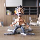 Super Hero Wolverine PVC Action Figure Kneeling Model Toys for Decoration Collection
