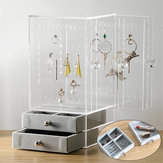 Acrylic Jewelry Holder Display Earring Necklace Bracelet Stand Desktop Organizer For Shops