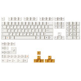 MechZone 136 Tombol White Orange Keycap Set Cherry Profile PBT Keycaps untuk 64/68/84/87/96/104 Tombol Keyboard Mekanik