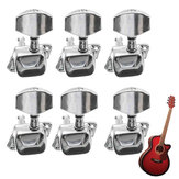 Acoustic Guitar String Semiclosed Tuning Pegs Tuners Machine Heads 6L Chrome