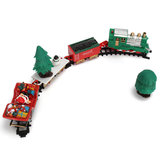Christmas Musical Light Tracks Train Set 20 Piece With Trees Carriages Zabawka dla dzieci