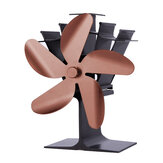 Quiet 210CFM 5 Blades Stove Fan Heat Powered Saving Fireplace Ecofan Burner