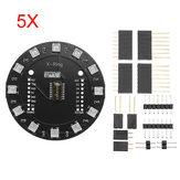 5Pcs Wemos® X-Ring RGB WS2812b LED Module For RGB Built-in LED 12 Colorful LED Module For WAVGAT ESP8266 RGB