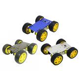 Aggiornamento blu / nero / nastro C101 4WD kit per auto Smart Chassis per -UNO-R3 con pannello metallico / ruote 65mm / motore TT 4 pezzi