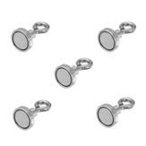 Effetool 5pcs 16mmx30mm 5kg Neodymium Recovery Magnet Metal Detector Claw Hook Magnet