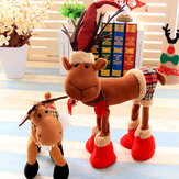 Noël 2017 Tissu Peluche Elk Ornement Table Bureau Décoration de Noël enfants Toy Cartoon Style Craft