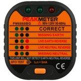 PEAKMETER PM6860BG GFCI/RCD Test Function Socket Detector Tester Line Detector with Leakage Tester