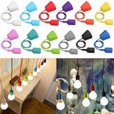 E27 / E26 Socket Colorful Silicone Plafond Pendentif Lampe Ampoule Support Suspendu Luminaire
