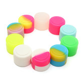 100 stuks 2ML Colorful ronde siliconen non-stick concentraatcontainers pot opbergdoos