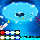 36W 85-265V LED RGB Music Smart Ceiling Lamp APP+Remote Control Works w/ Google Home/Alexa