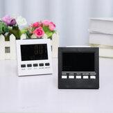 LED Alarma digital Reloj Temperatura Humedad Color del tiempo Pantalla Con retroiluminación