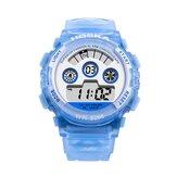 HOSKAS H001S Fresh Rosa Color azul Impermeable Estilo de moda Reloj para niños Reloj digital para pareja