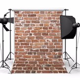 1.5x2.1m Photography Vinyl Background Worn Red Brick Wall Studio Backdrop