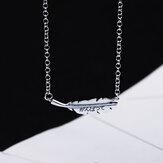 SHENLIN S925 Einfache Mode Halskette Damen Elegante Blätter Anhänger Halskette Schlüsselbein Kette Charm Chokcer Female Party Schmuck Geschenke