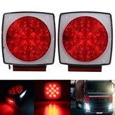 12V Φορτηγό Trailer LED Πίσω τετράγωνο πίσω φώτα φώτων πίσω φώτα στήριγμα βάσης κόκκινο πορτοκαλί λευκό