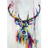 Acuarela cabeza de ciervo minimalista lienzo pintura cartel pared arte hogar oficina decoración