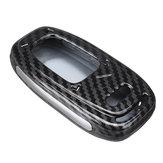 ABS Autosleutel Case Cover Bag Carbon Zwart voor Audi A4L A5 A6L Q5 Q7 S6 A7 A8L