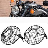 5.75 '' Motocicleta LED Faróis Protetor de Capa de Grelha De Futebol Para Harley Cruzador