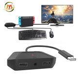 JYS-NS200 For Nintendo Switch/PS3/PS4/Xbox Multifunctional Keyboard and Mouse Converter Adapter With 3.5mm Audio Headset
