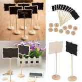 Weihnachten Holz Mini Holz Tafel Tafel Platz Kartenhalter Tischnummer für Hochzeit Event Party Dekoration
