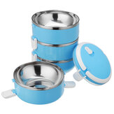 1-4 Layer Stainless Steel Lunch Box Bento Box Camping Picnic Food Storage Container Outdoor Travel