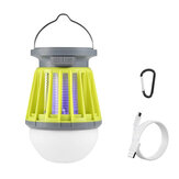 Thorfire Solar  Mosquito Killer Lantern IPX6 Waterproof Mosquito Zapper 3 Modes Camping Light USB/Solar Charging Mosquito Lamp