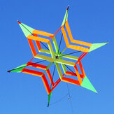 3D Colorful Flower Kite Single Line Outdoor sports Toy Light Wind Flying Kids